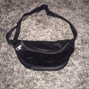 Black Sequin Fanny Pack